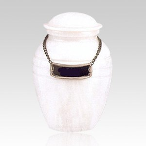 White Pet Marble Cremation Urns