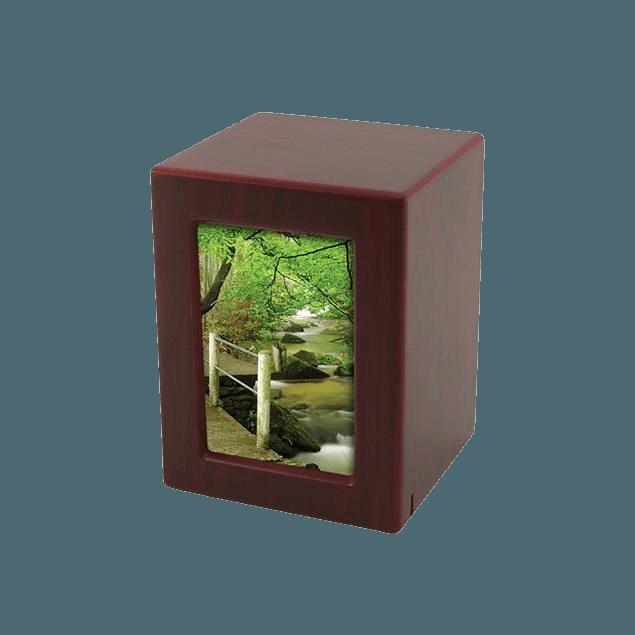 Cherry Infinity Small Photo Wood Urn
