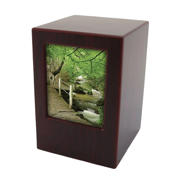 Cherry Infinity Photo Wood Urn