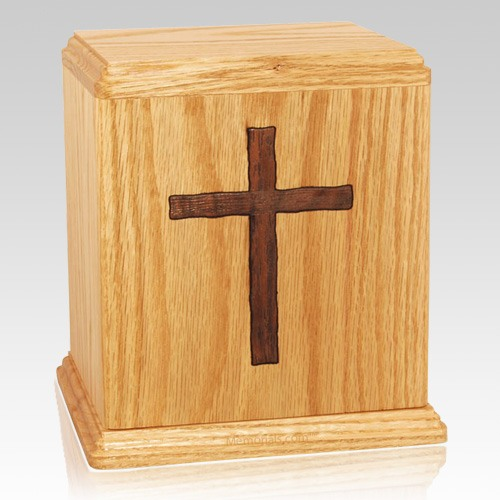 Inlay Cross Cremation Urn