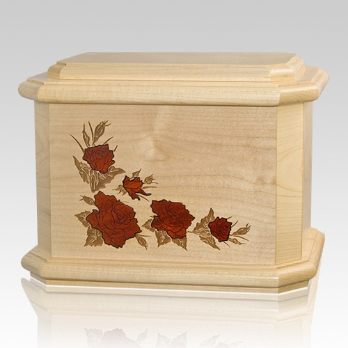 Octagon Rose Maple Cremation Urn