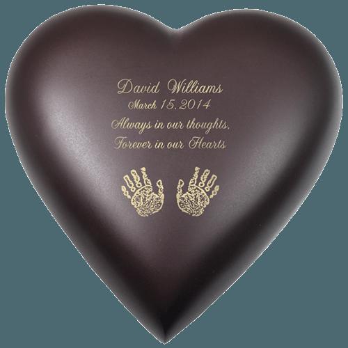 Java Heart Print Child Cremation Urn