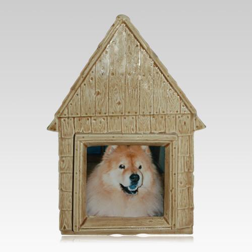 Large Dog House Ceramic Urn