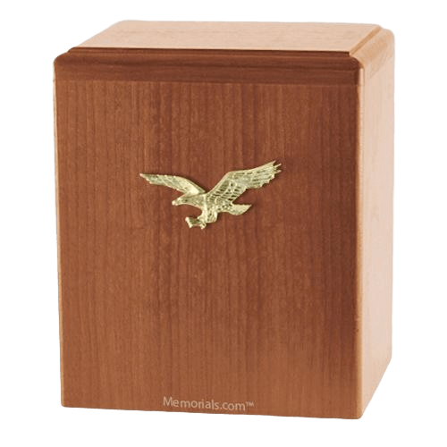 Eagle Ascent Light Cherry Small Cremation Urn