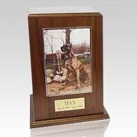 Walnut Tower Photo Pet Cremation Urn III