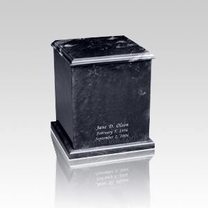 Eversquare Black Keepsake Urn