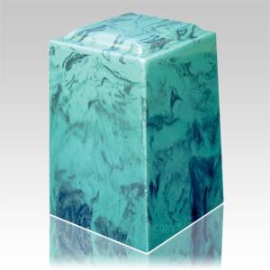 Emerald Agean Marble Cremation Urn