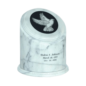 Crown White Small Marble Urn