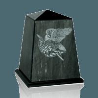 Obelisk Black Marble Urn