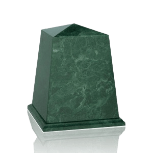 Obelisk Green Small Marble Urn