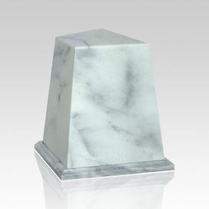 Obelisk White Small Marble Urn