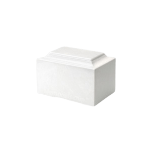 White Marble Keepsake Urn