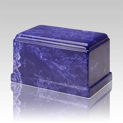 Olympus Cobalt Marble Cremation Urn