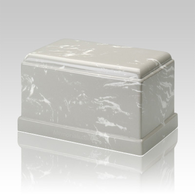 Olympus Silver Gray Marble Cremation Urn