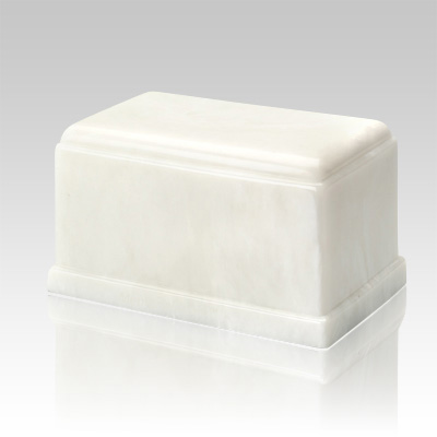 Olympus White Marble Cremation Urn