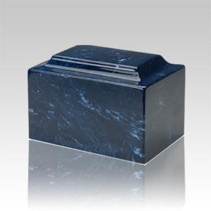 Navy Marble Medium Urn