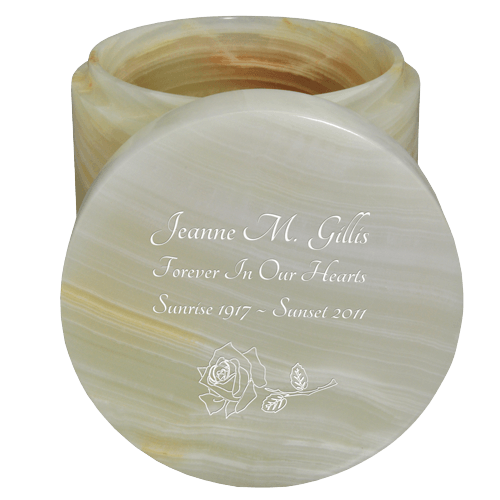 Noble Neutral Marble Cremation Urn