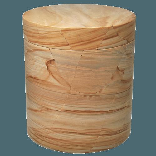 Noble Teak Marble Cremation Urn