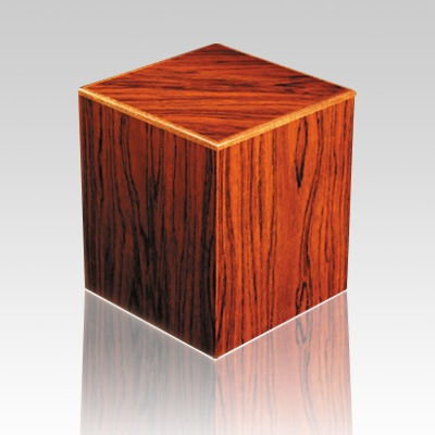 Nordic Forest Wood Cremation Urn