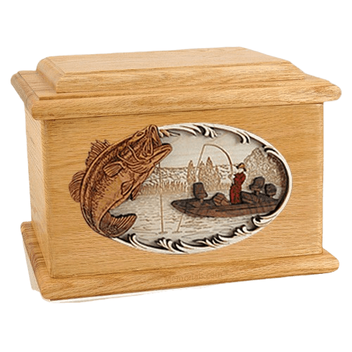 Catch of the Day Oak Memory Chest Cremation Urn