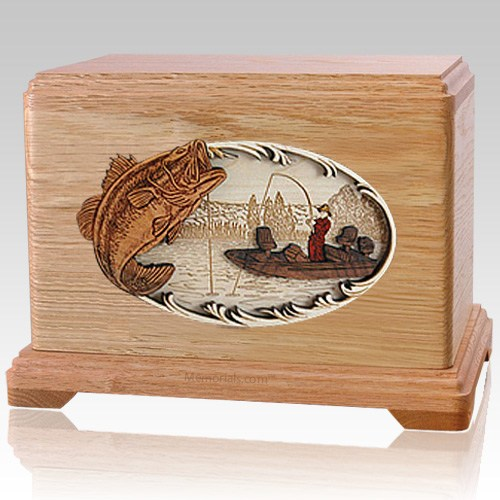 Catch of the Day Oak Hampton Cremation Urn