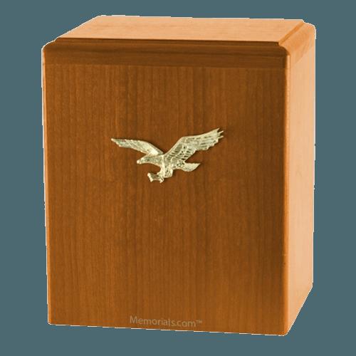 Eagle Ascent Oak Small Cremation Urn