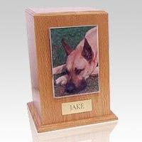 Oak Tower Photo Pet Cremation Urn III