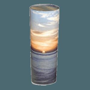 Ocean Sunset Scattering Small Biodegradable Urn