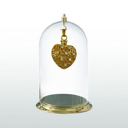 Brass Pendant Pet Display Case