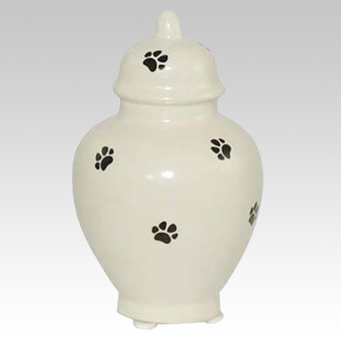 Paw Prints Ceramic Cremation Urn