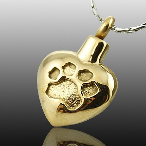 Paw Heart Print Cremation Jewelry II