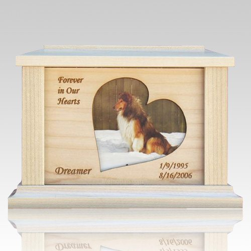 Pet Heart Picture Cremation Urns
