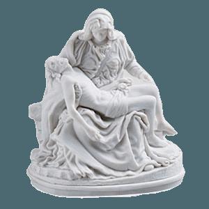 White Pieta Religious Cremation Urn