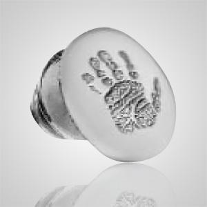 Lapel Pin Print Sterling Silver Keepsake