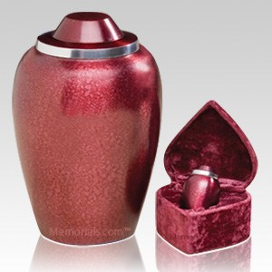 Frosted Plum Cremation Urns