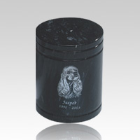 Black Small Pet Marble Urn