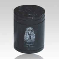 Black Medium Pet Marble Urn