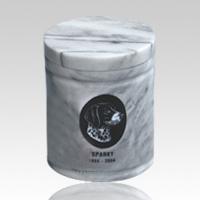 White Medium Pet Marble Urn