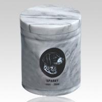 White Large Pet Marble Urn