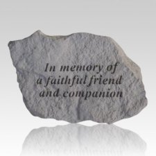 In Memory Of A Faithful Friend Rock