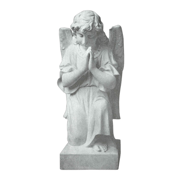 Kneeling Angel Granite Statue