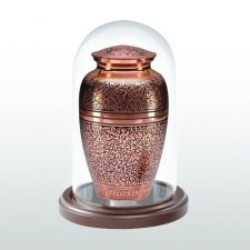 Walnut Short Glass Keepsake Dome