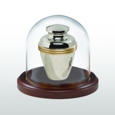 Walnut Tall Glass Keepsake Dome