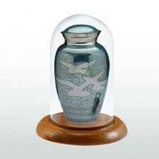 Oak Tall Glass Keepsake Dome
