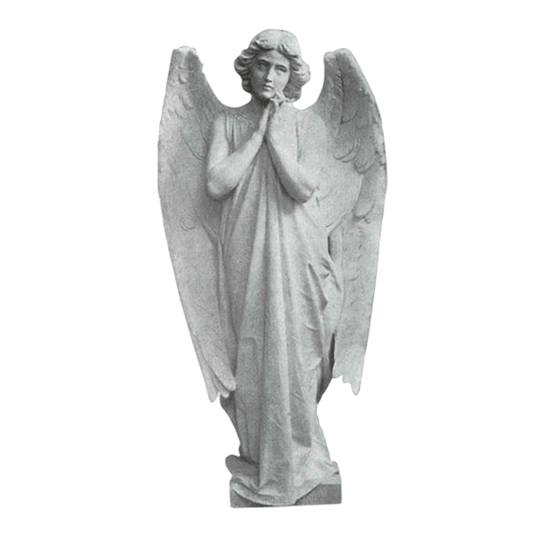 Adoring Angel Granite Statue