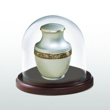 Walnut Happiness Glass Keepsake Dome