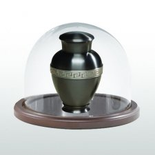 Walnut Wide Glass Keepsake Dome