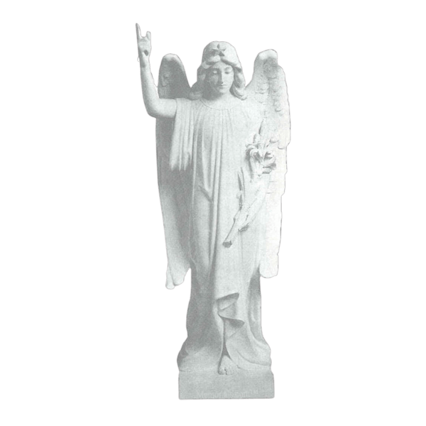 Angel & Wheat Granite Statue