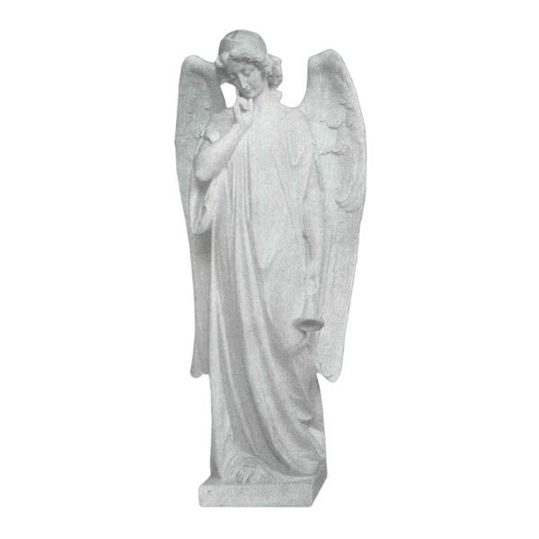 Trumpet Angel Granite Statue
