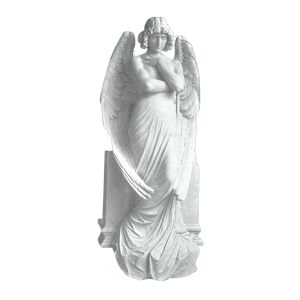 Standing Messenger Granite Statue